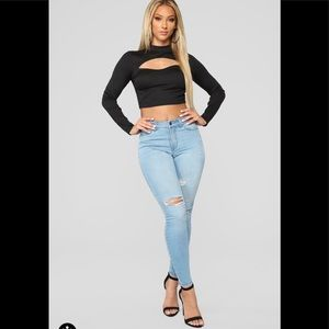 Fashion nova light blue jean